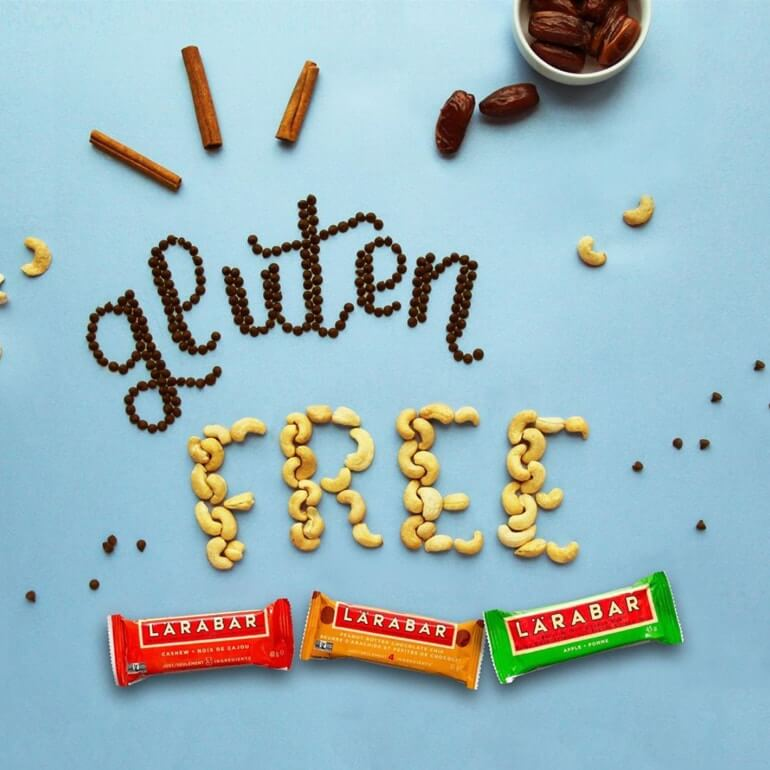 gluten free spelled out with ingredients